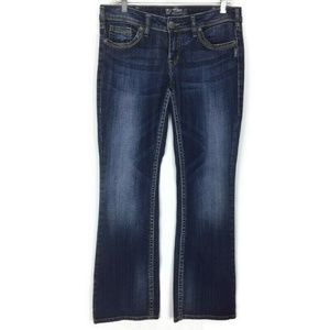 Silver Jeans 30 Blue Denim Womens Pants Aiko Bootc